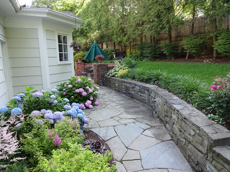 Landscape, Patio And Wall